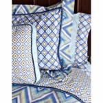 Caden Lane Big Kid Twin Ikat Duvet Cover in Ikat Blue