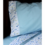 Caden Lane Big Kid Twin Sheet Set in Classic Blue