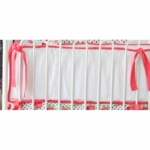 Caden Lane Coral & White Bumper (Limited Edition)