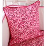 Caden Lane Girly Pink Leopard Square Pillow (Limited Edition)