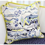 Caden Lane Ikat Circus Boy Square Pillow (Limited Edition)