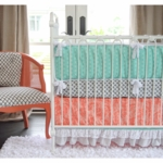 Caden Lane Lacey Dot 2 Piece Crib Set (Limited Edition)