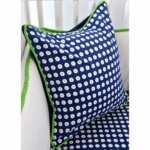 Caden Lane Preppy Navy Boy Square Pillow (Limited Edition)