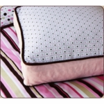 Caden Lane Square Accent Pillow in Classic Pink