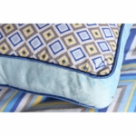 Caden Lane Square Accent Pillow in Ikat Blue