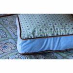 Caden Lane Square Accent Pillow in Modern Vintage Blue