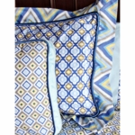 Caden Lane Standard Sham in Ikat Blue