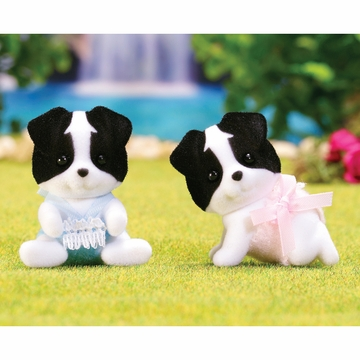 Calico Critters Border Collie Twins