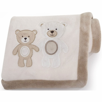 Carter's Baby Bear Embroidered Boa Blanket