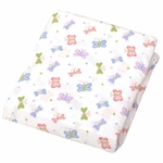 Carter's Easy Fit Crib Printed Fitted Sheet in Butterfly