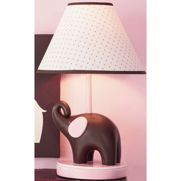Carter's Elephant Pink Lamp and Shade