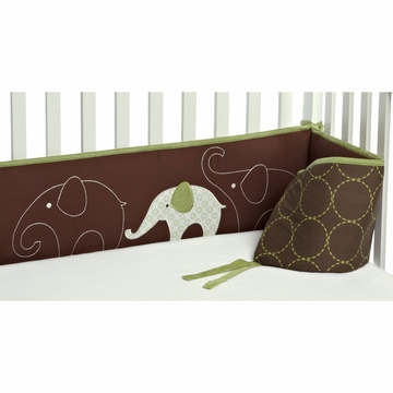 Carter's Green Elephant Bumper