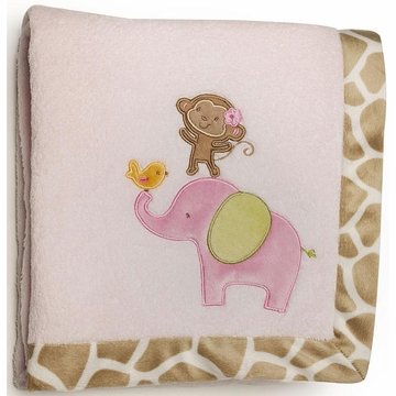 Carter's Jungle Jill Embroidered Boa Blanket