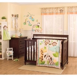 Carter's Jungle Play 4 Piece Crib Bedding Set