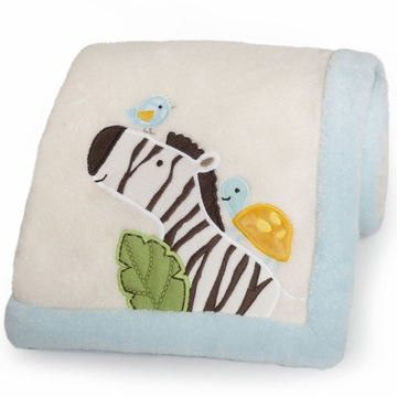 Carter's Jungle Play Embroidered Blanket