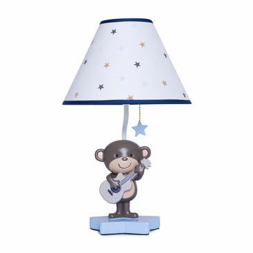 Carter's Monkey Rockstar Lamp Base & Shade