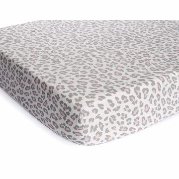 Carter's Printed Fitted Crib Sheet - Grey Cheetah