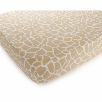 Carter's Printed Fitted Crib Sheet - Tan Giraffe