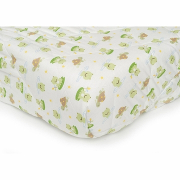 Carter's Quilted Playard Sheet - Lilypad Frog