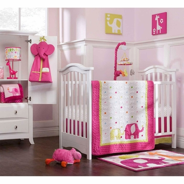 Carter's Safari Brights 4 Piece Crib Bedding Set