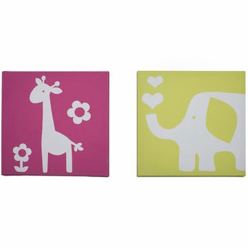 Carter's Safari Brights Canvas Wall Art- 2pc
