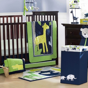 Carter's Safari Sky 4 Piece Crib Bedding Set