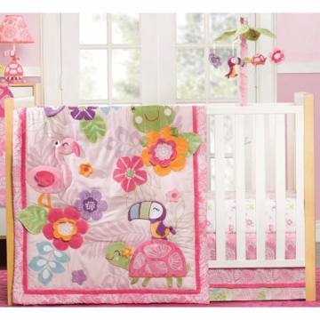 Carter's Tropical Garden 4 Piece Crib Bedding Set