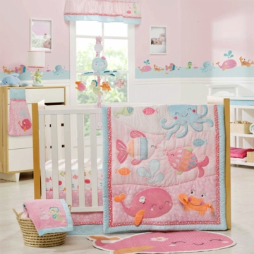 Carter's Under the Sea 4 Piece Crib Bedding Set