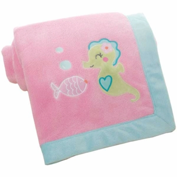 Carter's Under the Sea Embroidered Boa Blanket