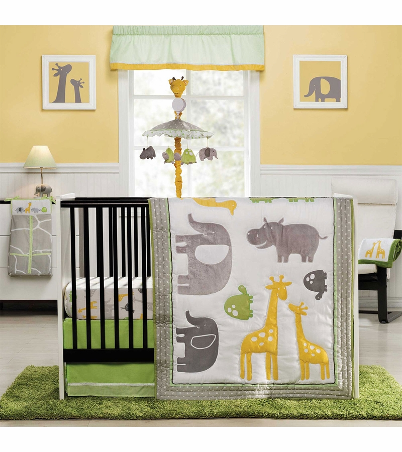 Carter S Zoo Animals 4 Piece Crib Bedding Set