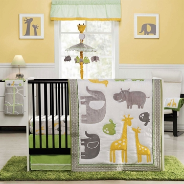 Carter's Zoo Animals 4 Piece Crib Bedding Set