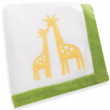 Carter's Zoo Animals Embroidered Boa Blanket