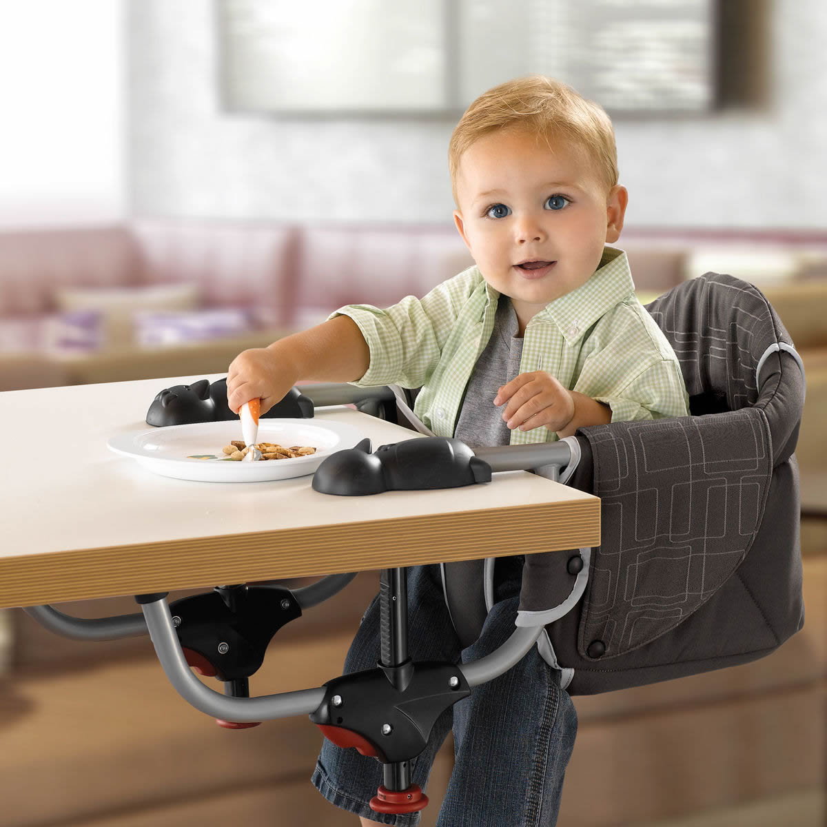 Hook On High Chairs , Clip On High Chair Attaches To Table