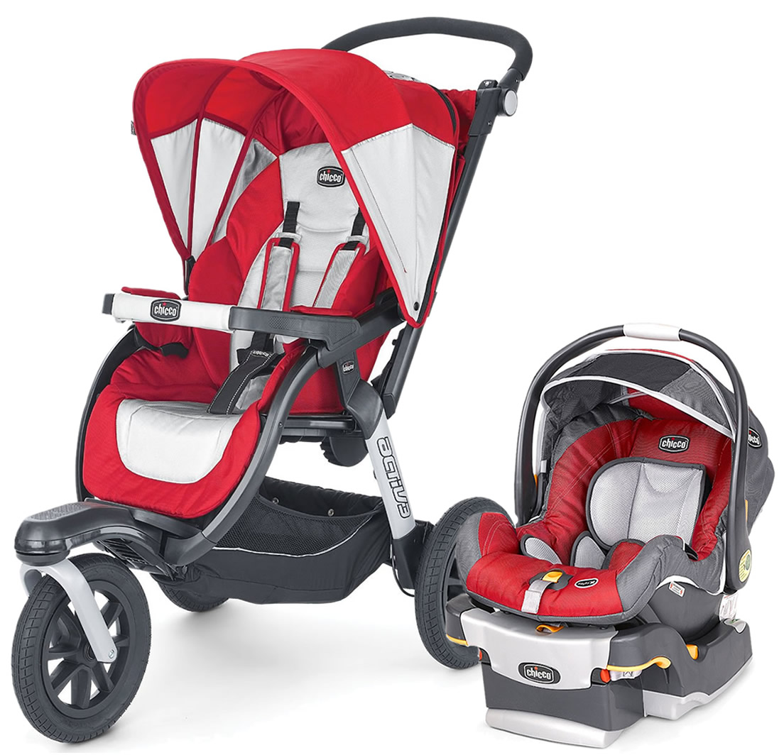 Chicco Activ3 Travel System Snap Dragon
