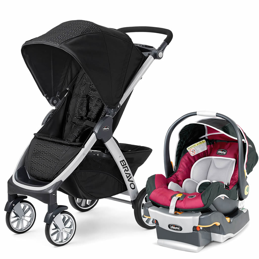 Chicco Bravo Amp Keyfit Trio Travel System Ombra Aster