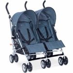 Chicco Citta Twin Double Stroller in Blue Sky