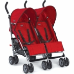 Chicco Citta Twin Double Stroller in Red