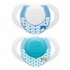 Chicco Hard Shield Orthodontic Pacifiers - Blue - 0M+