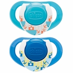 Chicco Hard Shield Orthodontic Pacifiers - Blue - 12M+