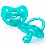 Chicco Soft Silicone Orthodontic Pacifiers - Blue - 0M+
