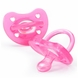 Chicco Soft Silicone Orthodontic Pacifiers - Pink - 0M+