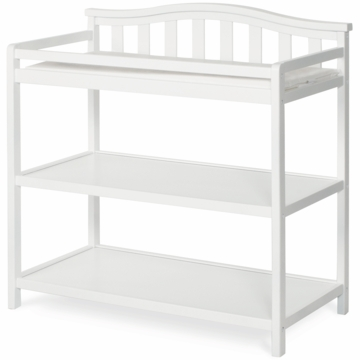 Child Craft Arch Top Changing Table in Matte White