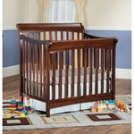 Child Craft Ashton Mini Convertible Crib in Select Cherry