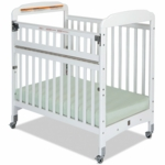Child Craft Bella SafeAccess Compact Clearview Crib in White