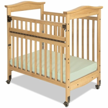 Child Craft Kingswood SafeAccess Compact Clearview Crib in Natural