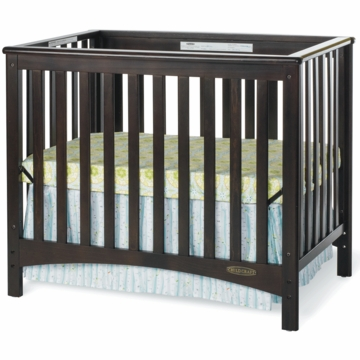 Child Craft London Euro Mini 2 in 1 Convertible Crib in Jamocha
