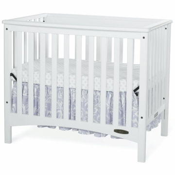 Child Craft London Euro Mini 2 in 1 Convertible Crib in Matte White