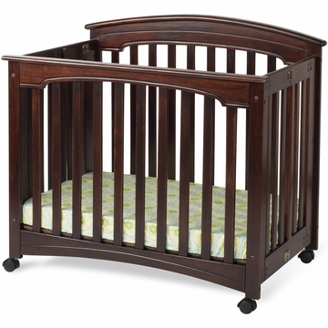 Child Craft Stanford Mini Folding Crib in Select Cherry