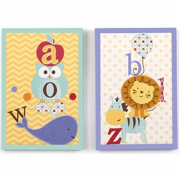 CoCaLo Alphabet Babies 2 Piece Canvas Wall Art