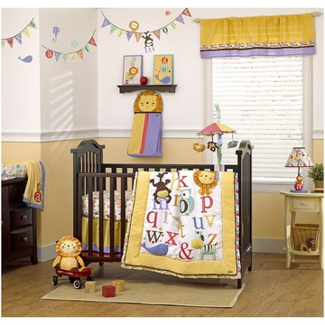 CoCaLo Alphabet Babies 6 Piece Crib Bedding Set
